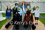 The Covid Cops horsing around and having fun at the Féile-Family Camps in Pearse Park on Sunday, l to r: Sadie O'Gorman (Lixnaw), Gda Marcus Nolan, Ava Daly (Lixnaw), Sgt Tim Landers and Finn O'Gorman (Lixnaw),