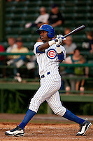 May 6 2010: Junior Lake (33) of the  Daytona Cubs during a game vs. the Clearwater Threshers at Jackie Robinson Ballpark in Daytona Beach, Florida. Daytona, the Florida State League High-A affiliate of the Chicago Cubs, lost the game against Clearwater, affiliate of the Philadelphia Phillies, by the score of 4-1.  Photo By Scott Jontes/Four Seam Images