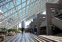 Vancouver: Provincial Law Courts--Interior. Arthur Erickson.  Photo '86.