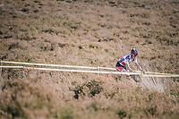 eventual race winner Jens Dekker (NED/Beobank-Corendon) riding through the deserted heath at the backside of the course<br /> <br /> U23 race<br /> CX Super Prestige Zonhoven 2017