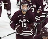 Jacob Panetta (Colgate - 15) - The visiting Colgate University Raiders shut out the Harvard University Crimson for a 2-0 win on Saturday, January 27, 2018, at Bright-Landry Hockey Center in Boston, Massachusetts.