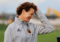 20201021 - TUBIZE , Belgium : Physiotherapist Fabienne Van de Steene pictured during a training session of the Belgian Women's National Team, Red Flames , on the 21st of October 2020 at Proximus Basecamp in Tubize. PHOTO:  SPORTPIX.BE | SPP | SEVIL OKTEM