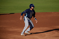 Charlotte Stone Crabs Zach Rutherford (15) leads off during a Florida State League game against the Bradenton Marauders on July 30, 2019 at LECOM Park in Bradenton, Florida.  Charlotte defeated Bradenton 5-0.  (Mike Janes/Four Seam Images)