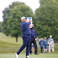 3rd July 2021; Mount Juliet Golf Club, Kilkenny, Ireland; Dubai Duty Free Irish Open Golf, Day Three; Shane Lowery of the Republic of Ireland takes his second shot on the 1st hole