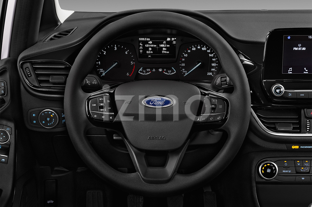 Car pictures of steering wheel view of a 2017 Ford Fiesta Business-Class 5 Door Hatchback Steering Wheel