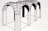perspective diagram of roman groin vaults