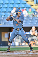 Tennessee Volunteers designated hitter Dominick Cammarata (21) awaits a pitch during a game against the UNC Asheville Bulldogs at McCormick Field on March 15, 2016 in Asheville, North Carolina. The Volunteers defeated the Bull Dogs 7-3. (Tony Farlow/Four Seam Images)