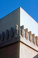 F.L. Wright: Barnsdall House--Corner detail.
