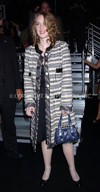 WWW.ACEPIXS.COM . . . . .  ..NEW YORK, SEPTEMBER 13, 2004: Winona Ryder at Marc Jacobs Fashion Show. Please byline: AJ Sokalner - ACE PICTURES..... *** ***..Ace Pictures, Inc:  ..Alecsey Boldeskul (646) 267-6913 ..Philip Vaughan (646) 769-0430..e-mail: info@acepixs.com..web: http://www.acepixs.com