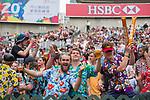 Hong Kong vs Sri Lanka during their Pool F match as part of the HSBC Hong Kong Rugby Sevens 2017 on 07 April 2017 in Hong Kong Stadium, Hong Kong, China. Photo by Marcio Rodrigo Machado / Power Sport Images