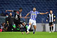 20th December 2020; Dragao Stadium, Porto, Portugal; Portuguese Championship 2020/2021, FC Porto versus Nacional; Mehdi Taremi of FC Porto tackled by Ibrahim Abdullahi Alhassan of Nacional