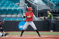 Mike Jarvis (14) of the San Diego State Aztecs at bat against the UNCG Spartans at Springs Brooks Stadium on February 16, 2020 in Conway, South Carolina. The Spartans defeated the Aztecs 11-4.  (Brian Westerholt/Four Seam Images)