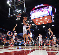 STANFORD, CA - March 17, 2018: Kaylee Johnson at Maples Pavilion. The Stanford Cardinal defeated the Gonzaga Bulldogs 82-68 to advance to the second round of the NCAA tournament.