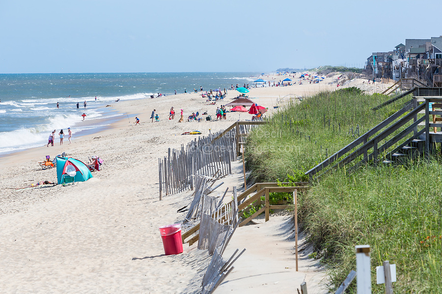 Avon, Outer Banks, North Carolina.  Avon Beach on a Summer Day.