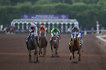ARCADIA, CA - NOVEMBER 05: Arrogate #10 (left), ridden by Mike Smith, wins the Breeders' Cup Classic during day two of the 2016 Breeders' Cup World Championships at Santa Anita Park on November 5, 2016 in Arcadia, California. (Photo by Kaz Ishida/Eclipse Sportswire/Breeders Cup)