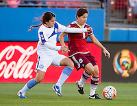 Frisco, TX - February 10, 2016: Mexico defeated Puerto Rico  6-0 during the opening game of the group stage at the CONCACAF Women's Olympic Qualifying Tournament in Toyota Stadium.