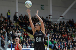 New Zealand's Te Paea Selby-Rickit in action during todays match   <br /> <br /> Swansea University International Netball Test Series: Wales v New Zealand<br /> Ice Arena Wales<br /> 08.02.17<br /> ©Ian Cook - Sportingwales
