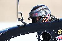 Oct 27, 2018; Las Vegas, NV, USA; NHRA funny car driver Jonnie Lindberg during qualifying for the Toyota Nationals at The Strip at Las Vegas Motor Speedway. Mandatory Credit: Mark J. Rebilas-USA TODAY Sports