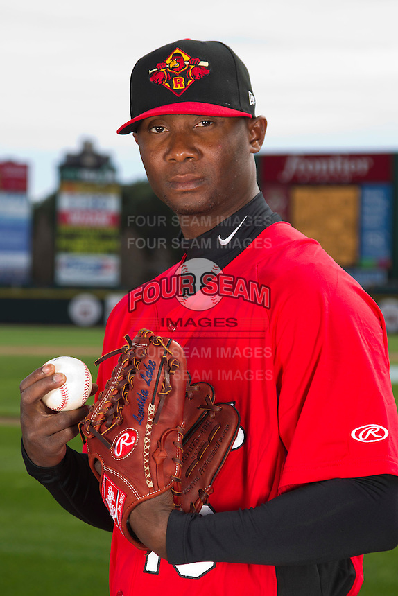 Rochester Red Wings pitcher Sam Deduno #19 poses for a photo during media day at Frontier Field on April 3, 2012 in Rochester, New York.  (Mike Janes/Four Seam Images)