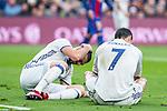 Real Madrid's Karim Benzema, Cristiano Ronaldo during spanish La Liga match between Futbol Club Barcelona and Real Madrid  at Camp Nou Stadium in Barcelona , Spain. Decembe r03, 2016. (ALTERPHOTOS/Rodrigo Jimenez)