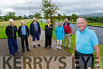 Chairman of Austin Stacks Billy Ryle finishes his 100km walk on Bracker O'Regan Road on Sunday. <br /> Front right: Billy Ryle<br /> Back l to r: Tadgh McMahon, Tim Slattery, Tim Guiheen, Mairead Furnane, Carmel and Martin O'Regan.