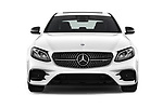 Car photography straight front view of a 2017 Mercedes Benz E Class AMG 43 4 Door Sedan