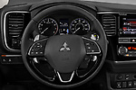 Car pictures of steering wheel view of a 2019 Mitsubishi Outlander GT 5 Door SUV Steering Wheel