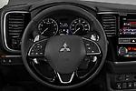 Car pictures of steering wheel view of a 2019 Mitsubishi Outlander GT 5 Door SUV Steering Wheel
