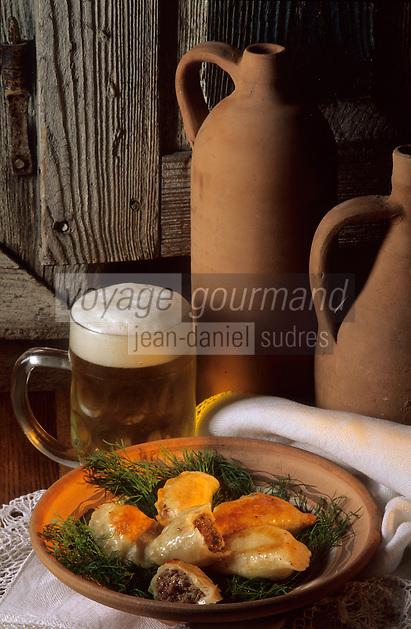 "Europe/Pologne/Varsovie: Les ""Pierogi"" sorte de raviolis polonais au restaurant ""Gessler"""