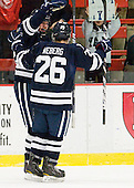 Chad Ziegler (Yale - 59), Nicholas Weberg (Yale - 26) - The Harvard University Crimson defeated the visiting Yale University Bulldogs 8-2 in the third game of their ECAC Quarterfinal matchup on Sunday, March 11, 2012, at Bright Hockey Center in Cambridge, Massachusetts.