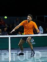 Rotterdam, The Netherlands, 12 Februari 2020, ABNAMRO World Tennis Tournament, Ahoy. Doubles: David Pels (NED).<br /> <br /> <br /> Photo: www.tennisimages.com