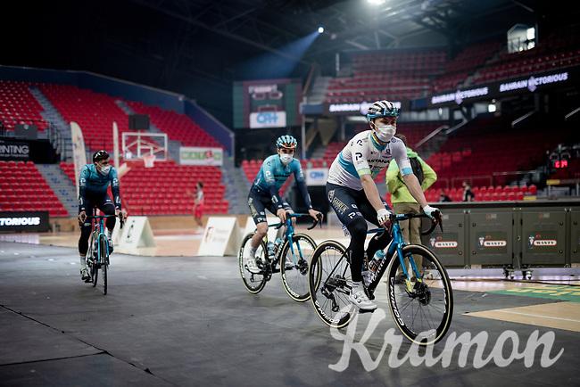 Alexey Lutsenko (KAZ/Astana - Premier Tech) at the Team presentation inside the Spirou Basketbal Dome<br /> <br /> 85th La Flèche Wallonne 2021 (1.UWT)<br /> 1 day race from Charleroi to the Mur de Huy (BEL): 194km<br /> <br /> ©kramon