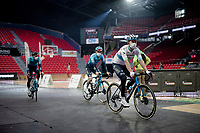 Alexey Lutsenko (KAZ/Astana - Premier Tech) at the Team presentation inside the Spirou Basketbal Dome<br /> <br /> 85th La Flèche Wallonne 2021 (1.UWT)<br /> 1 day race from Charleroi to the Mur de Huy (BEL): 194km<br /> <br /> ©kramon