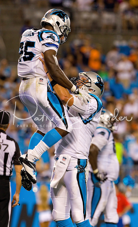 Carolina Panthers against the Chicago Bears during a preseason NFL game at Bank of America Stadium on August 9, 2013 in Charlotte, North Carolina. The Panthers won 24-17. 9 (Photo by: PatrickSchneiderPhoto.com)