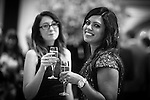 © Joel Goodman - 07973 332324 . 03/03/2016 . Manchester , UK . Lucy Roe and Shelina Begum before the ceremony . The Manchester Legal Awards from the Midland Hotel . Photo credit : Joel Goodman