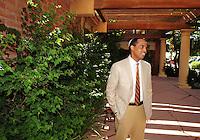 Jun. 16, 2009; Casa Grande, AZ, USA; United Football League commissioner Michael Huyghue during the groundbreaking of the Casa Grande Training Facility & Performance Institute in Casa Grande.  Mandatory Credit: Mark J. Rebilas-