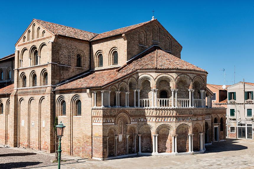 The Church of Santa Maria e San Donato in Murano, Venice, Veneto, Italy Venitian island of Murano, Italy.