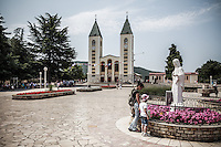 St. James church in Medjugorje. <br /> Medjugorje, Bosnia and Herzegovina. July 2012