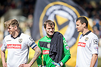 Roy Carroll of Notts County lines up ahead of the Sky Bet League 2 match between Newport County and Notts County at Rodney Parade, Newport, Wales on 30 April 2016. Photo by Mark  Hawkins / PRiME Media Images.