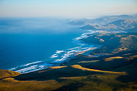 aerial view of coastline, Wild Coast, Mbotyi, Eastern Cape, South Africa, Atlantic Ocean