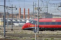 - Milano, scalo ferroviario della Stazione Centrale, treno NTV Italo<br /> <br /> - Milan, Central Station railway station, NTV Italo train