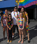 The Avitia family during the Pride Parade in Reno, Nevada on Saturday, July 27, 2019.