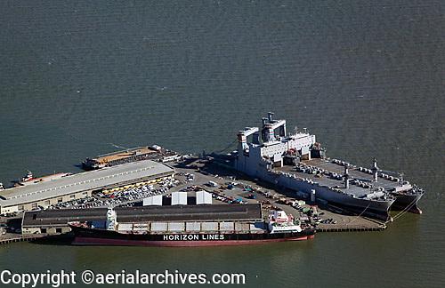 aerial photograph of Pier 50, Westar Marine Services, San Francisco, California