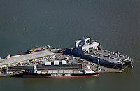 aerial photograph of Pier 50, Westar Marine Services, San Francisco, California