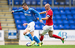 St Johnstone v York City...19.07.14  <br /> Michael O'Halloran is fouled by Russell Penn<br /> Picture by Graeme Hart.<br /> Copyright Perthshire Picture Agency<br /> Tel: 01738 623350  Mobile: 07990 594431