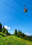 Austria, Tyrol, Westendorf (Tyrol): Alpenrose cable car above hiking village Westendorf at Brixen Valley   Oesterreich, Tirol, Westendorf (Tirol): Alpenrosenbahn oberhalb Wanderdorf Westendorf im Brixental