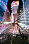 Japan, Tokyo, Shinjuku Street (Zoom Effect)