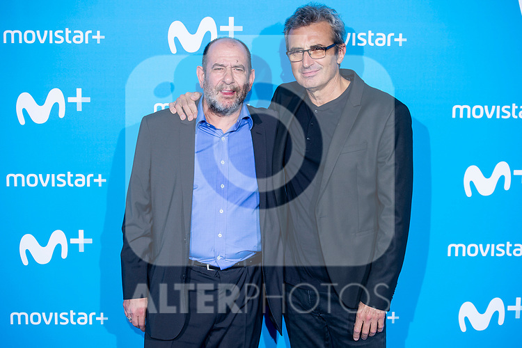 Karra Elejalde and Mariano Barroso attends to blue carpet of presentation of new schedule of Movistar+ at Queen Sofia Museum in Madrid, Spain. September 12, 2018.  (ALTERPHOTOS/Borja B.Hojas)