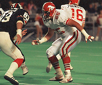 Sean McKeown Calgary Stampeders 1986. Photo F. Scott Grant