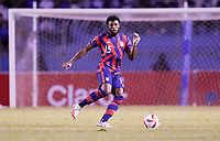 SAN PEDRO SULA, HONDURAS - SEPTEMBER 8: Mark McKenzie #15 of the United States looks for an open man downfield during a game between Honduras and USMNT at Estadio Olímpico Metropolitano on September 8, 2021 in San Pedro Sula, Honduras.